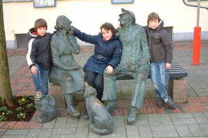 Katharina mit ihren Brüdern