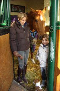 Nadine Capellmann mit Natascha und Smilla