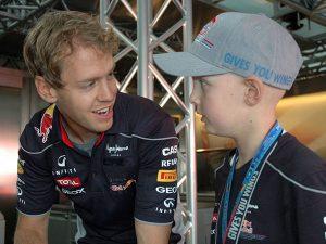SEbastian Vettel mit Kind