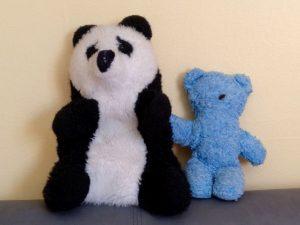 Pandabär und Teddybär