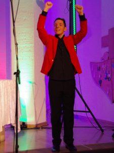 Chris auf der Bühne