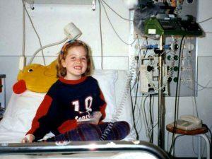 Marline im Krankenbett