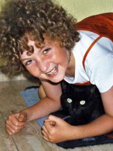 Marline mit ihrer Katze