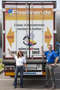 Der Pixelliner mit dem wünschdirwas Logo hinten drauf