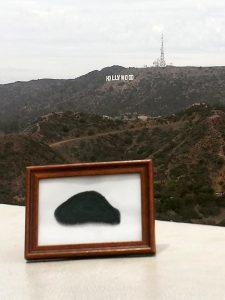 Das Hollywood-Schild im Hintergrund