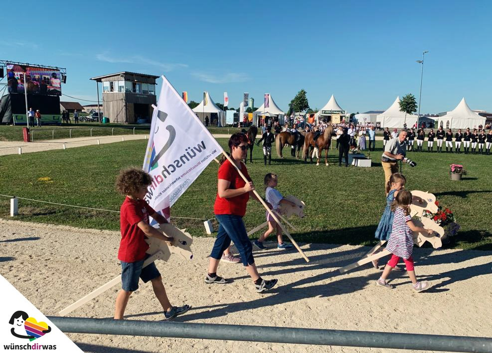 Wünschdirwas 30 jähriges Jubiläum - Stafettenritt für schwerkranke Kinder