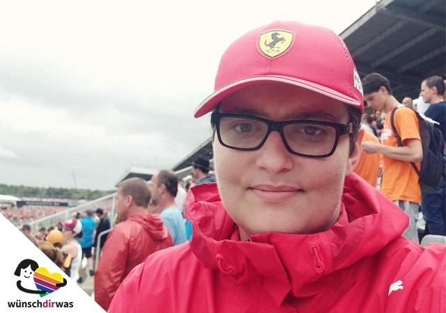 Florians Wunsch wird erfüllt - Formel 1 am Hochenheimring