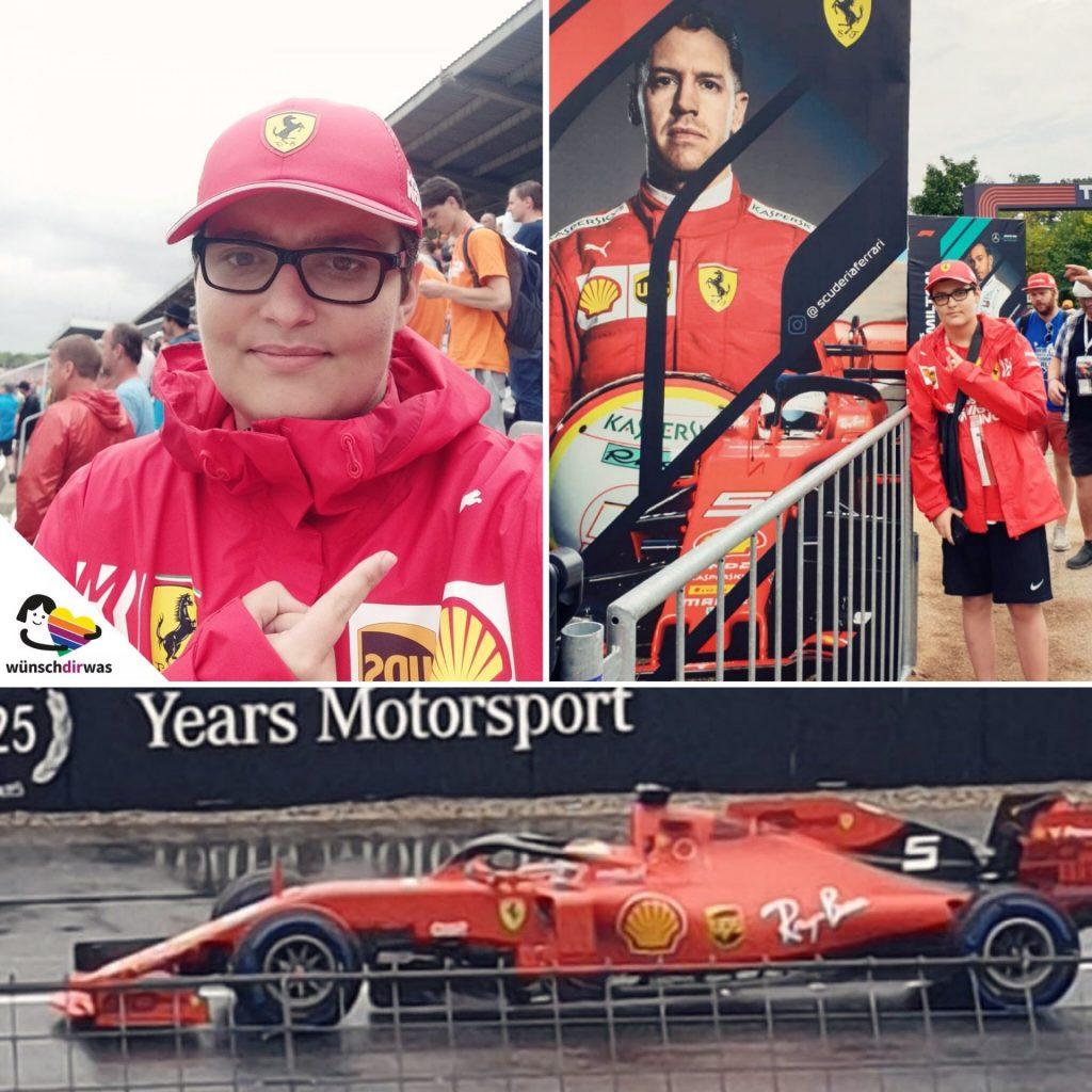 Wunscherfüllung Florian Formel 1 am Hochenheimring