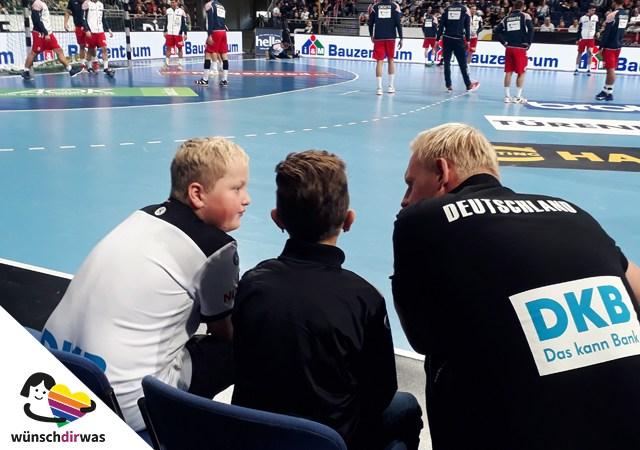 Hannes bei der Handball Nationalmannschaft - Wunscherfüllung