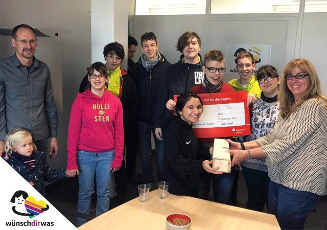 Spendenübergabe Förderschule Linnicher Benden
