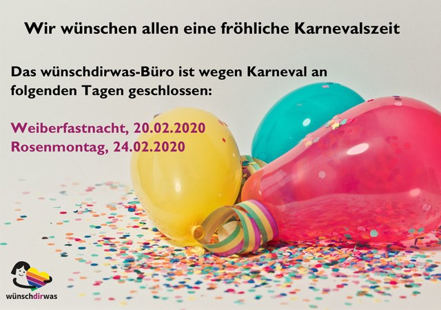 Karneval wünschdirwas