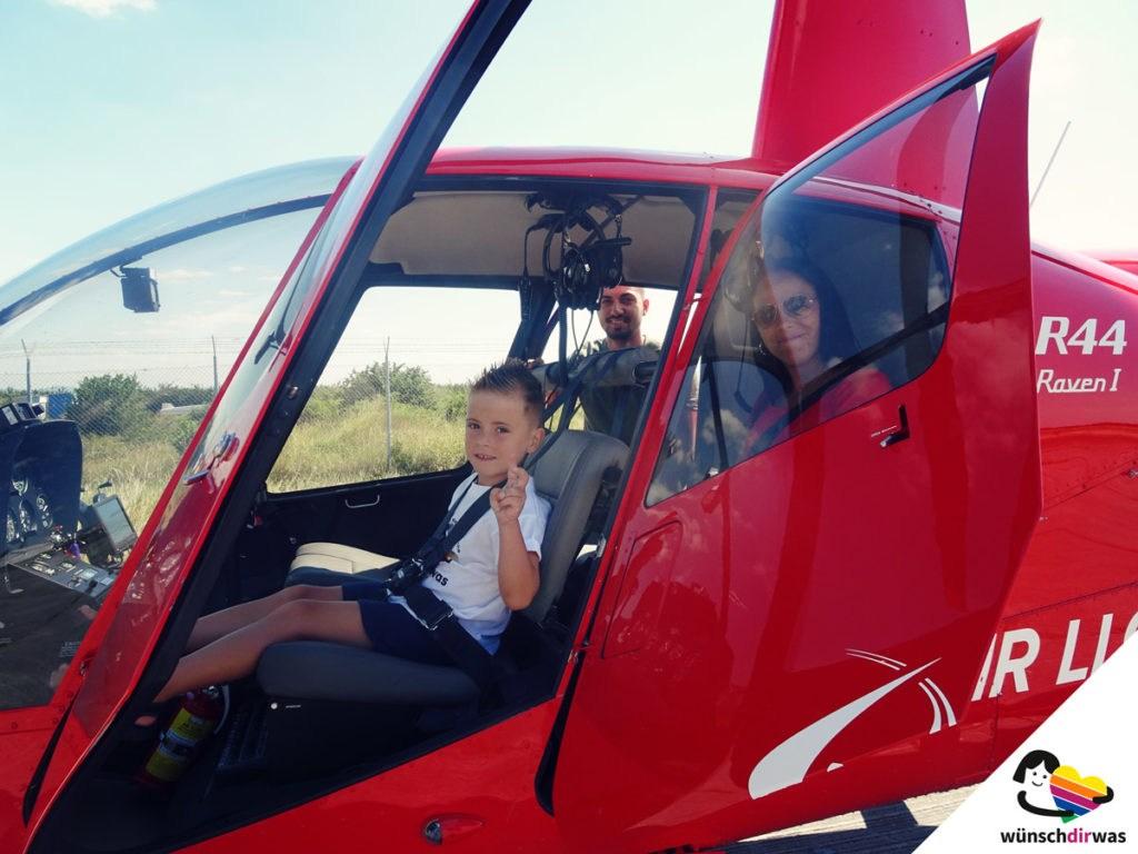 Gisosue Wunsch wird wahr - Hubschrauberflug