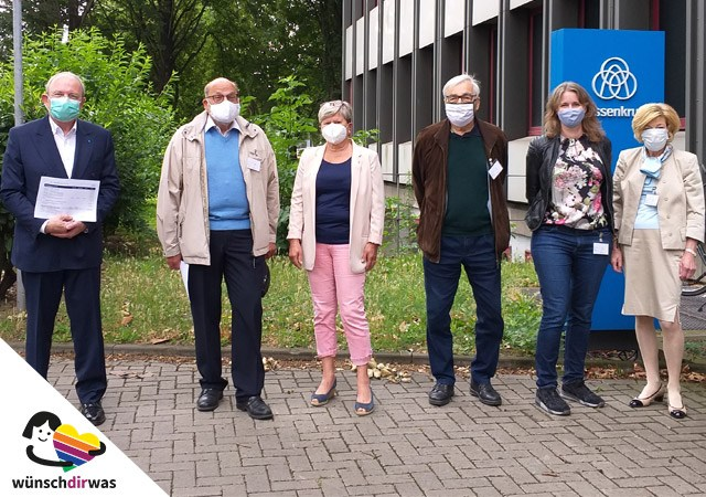 Scheckübergabe bei ThyssenKrupp - Spende